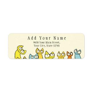 Étiquette Chats colorés de sort de regarder