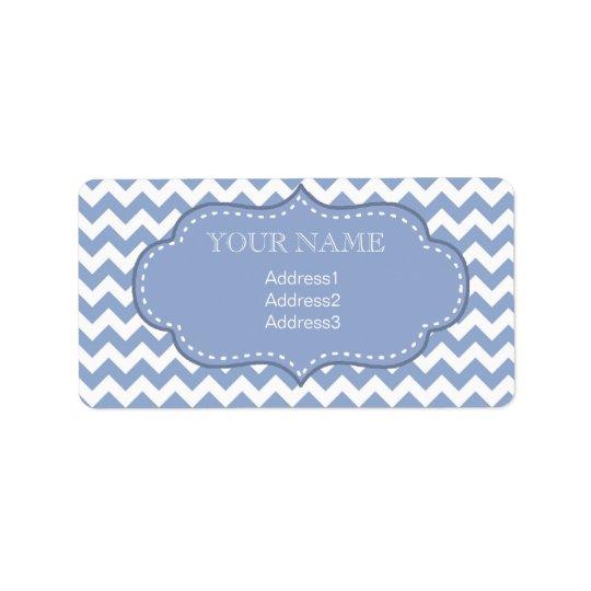 Étiquette Chevrons et bleu piqué d'étiquette