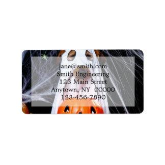 Étiquette Chien de fantôme - chien drôle - poursuivez