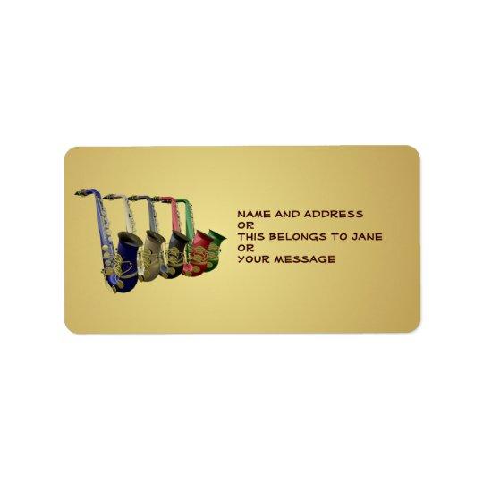 Étiquette Cinq ex-libris nommés d'étiquette de cadeau de