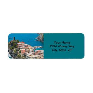 Étiquette Cinque Terre Italie en Riviera italienne