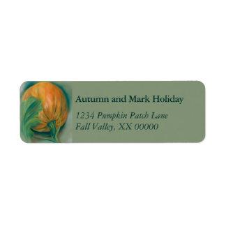 Étiquette Citrouille d'automne et thanksgiving personnalisé