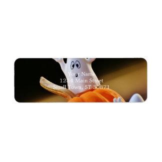 Étiquette Citrouille et fantôme - fantôme drôle - citrouille
