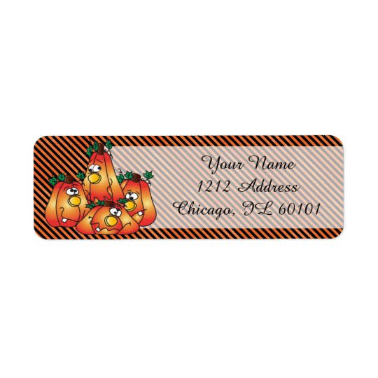 Étiquette Citrouilles mignons de Halloween