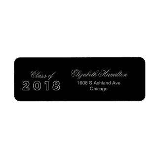 Étiquette Classe de l'obtention du diplôme 2018 élégante