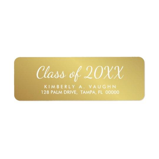 Étiquette Classe d'obtention du diplôme de l'adresse de