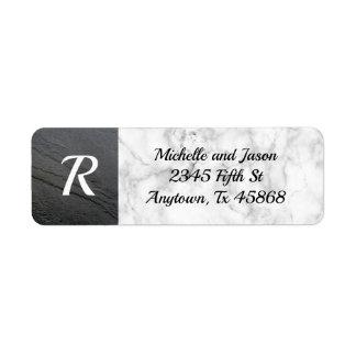 Étiquette Classique élégant de roche en pierre de marbre