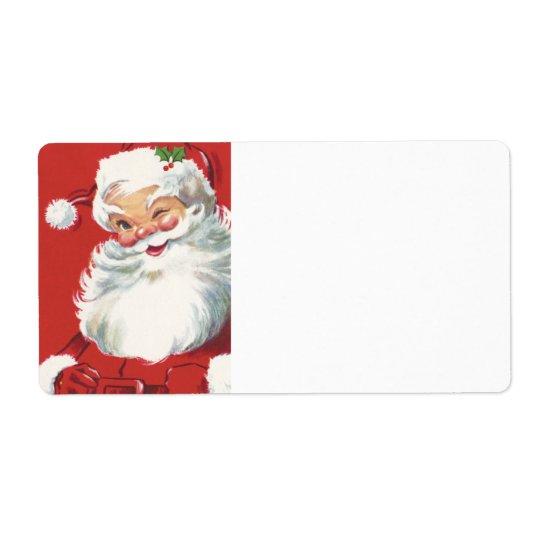 Étiquette Clin d'oeil de Père Noël