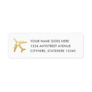 Étiquette Coeur d'avion d'or pour le mariage de destination