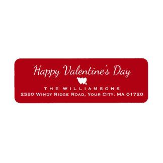 Étiquette Coeur et flèche de heureuse Sainte-Valentin