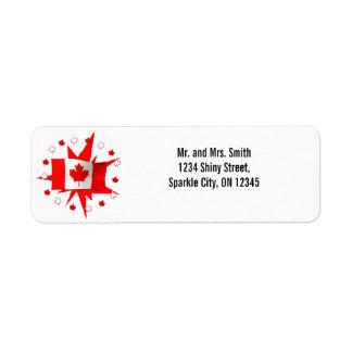 Étiquette Conception canadienne de drapeau