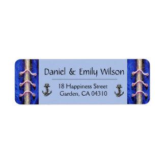Étiquette Conception industrielle d'abrégé sur bleu royal