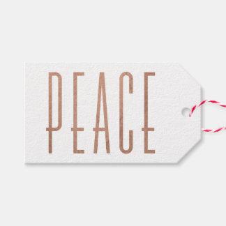 Étiquette condensée de cadeau de Noël de paix
