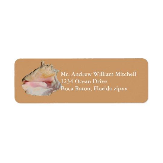 Étiquette Conque bronzage Shell