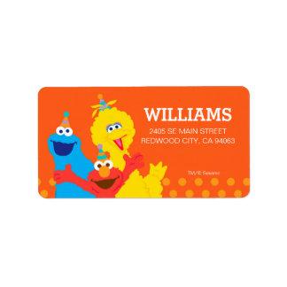 Étiquette Copains de Sesame Street