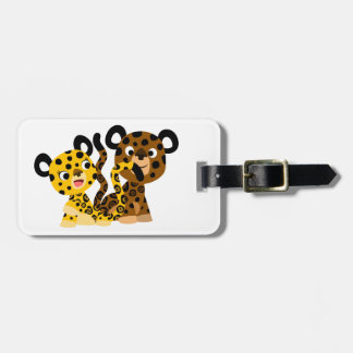 Étiquette coquette mignonne de bagage de jaguars étiquette de bagages