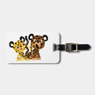 Étiquette coquette mignonne de bagage de jaguars étiquettes de bagages