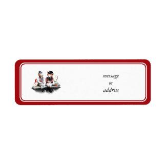 Étiquette Couples rusés (ajoutez votre texte)