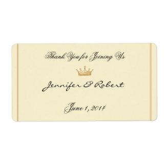 Étiquette Couronne Regency dans l'étiquette en ivoire de