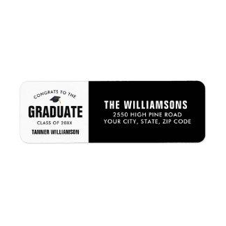 Étiquette Coutume moderne de diplômé de la classe 2018 de