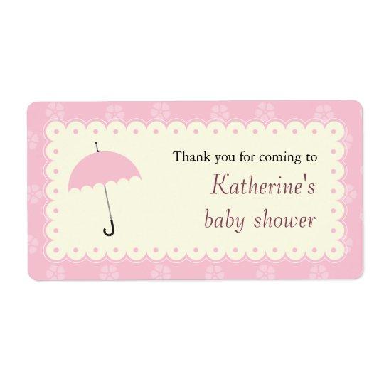 Étiquette cranté de baby shower de dentelle