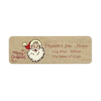 Étiquette Cru, Joyeux Noël, le père noël