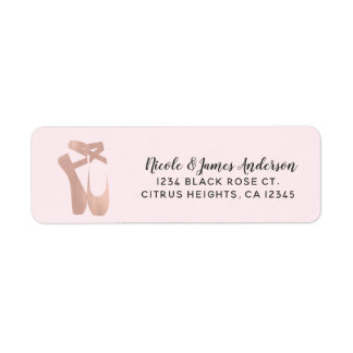Étiquette Danse rose d'or de ballet de ballerine rose de