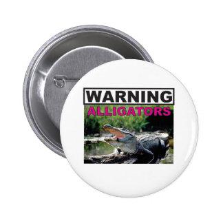 étiquette d'avertissement d'alligator badges