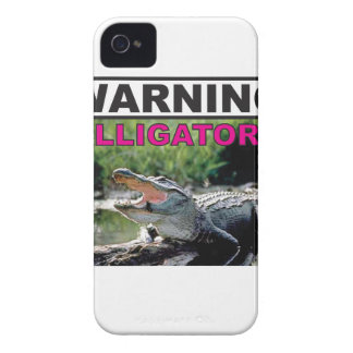 étiquette d'avertissement d'alligator coque iPhone 4 Case-Mate