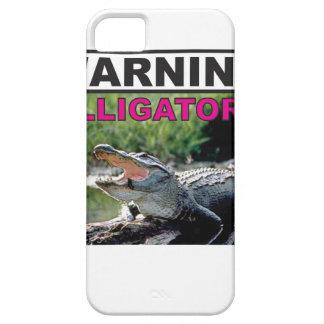 étiquette d'avertissement d'alligator coque iPhone 5