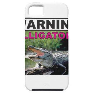 étiquette d'avertissement d'alligator coques iPhone 5