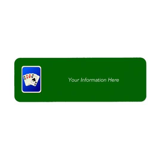Étiquette d'Avery d'adresse de retour de quatre as
