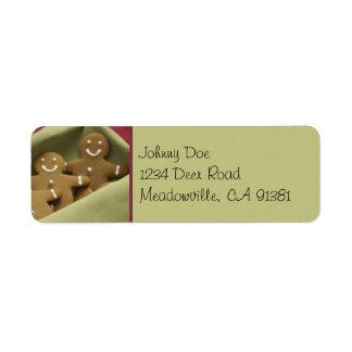 Étiquette d'Avery de bonhommes en pain d'épice