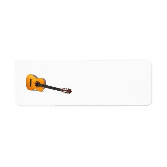 étiquette d'Avery de guitare acoustique