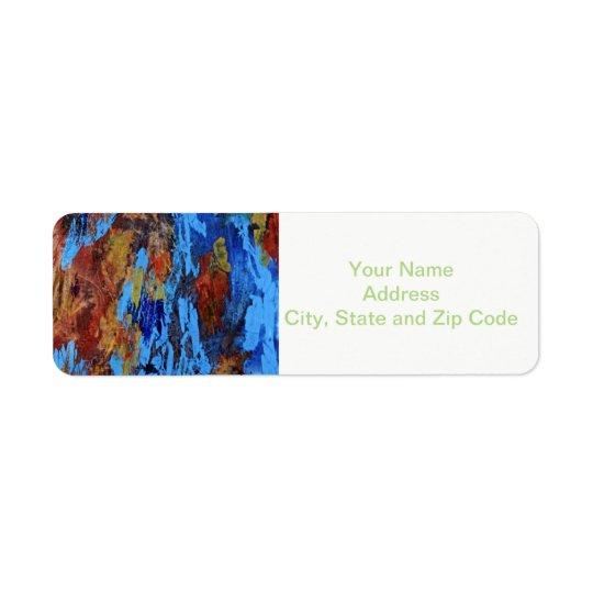 Étiquette de adresse abstrait de retour de