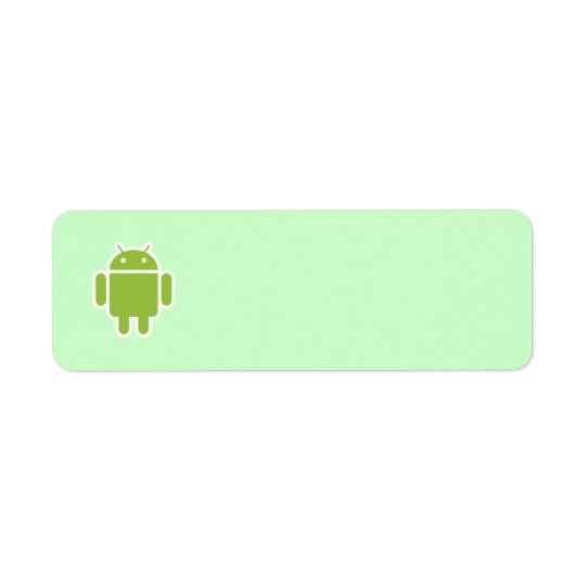 Étiquette de adresse androïde