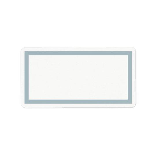 Étiquette de adresse bleu de blanc de cadre