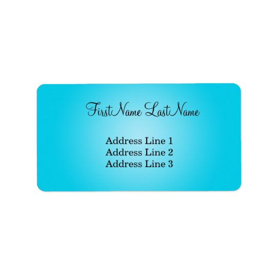 Étiquette de adresse bleu moderne