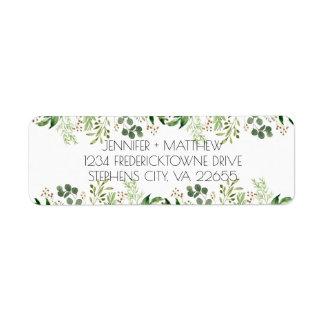 Étiquette de adresse botanique de retour de rêve