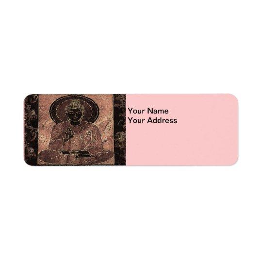 Étiquette de adresse Buddha4 de retour méditant