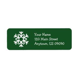 Étiquette de adresse C (arbre) de flocon de neige
