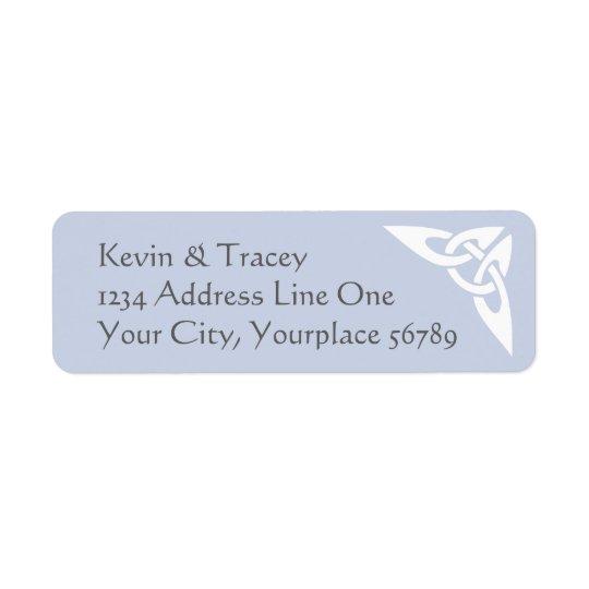 Étiquette de adresse celtique de noeud -