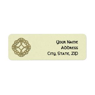 Étiquette de adresse celtique de retour de noeud