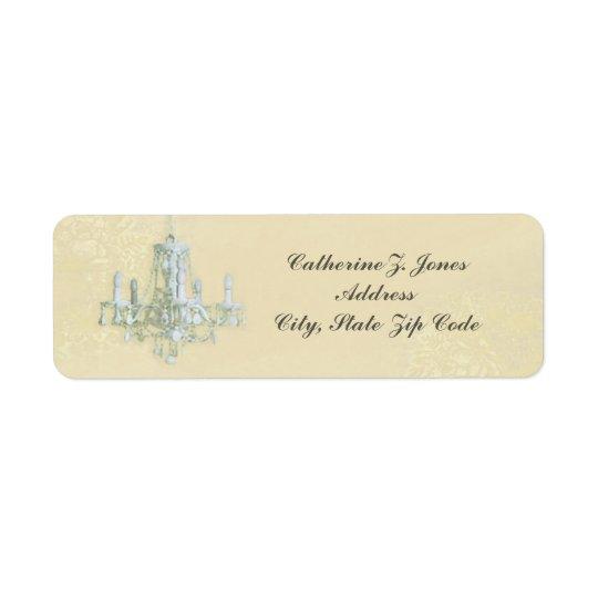 Étiquette de adresse chic élégant de lustre -