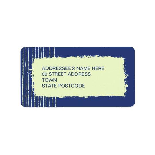 Étiquette de adresse crépusculaire
