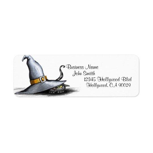 Étiquette de adresse d'affaires de Halloween