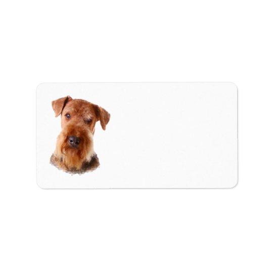 Étiquette de adresse d'Airedale Terrier