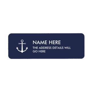 Étiquette de adresse d'ancre