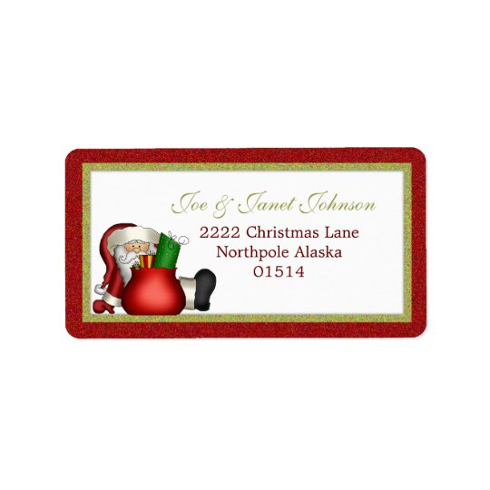 Étiquette de adresse d'Avery Père Noël
