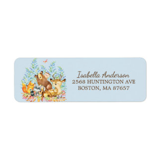 Étiquette de adresse de baby shower d'animaux de